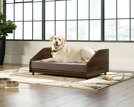 DOG BED LARGE IN WALNUT FINISH