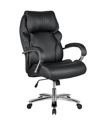 """""""METROPOLIS"""" OFFICE CHAIR IN BLACK VYNIL AND MESH"""