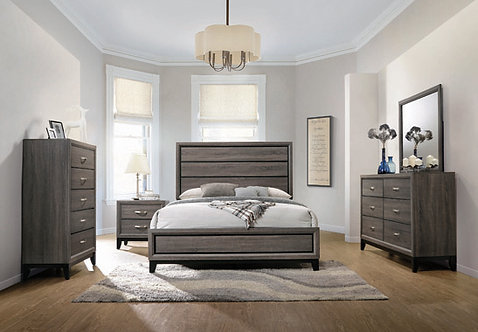 """""""HARBOR"""" 4-PCS FULL OR QUEEN BEDROOM SET IN GREY"""