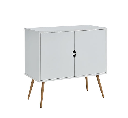 """""""ALFRED"""" TWO DOOR ACCENT TABLE IN WHITE FINISH"""