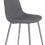 """Thumbnail: """"LORRAINE"""" DINING SET 4 CHAIRS IN GREY AND GLASS TOP"""
