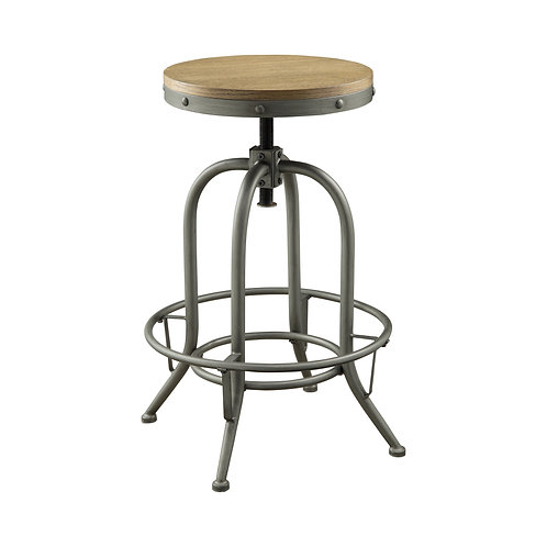 BACKLESS BAR STOOLS WEATHERED BROWN AND GRAPHITE (SET OF 2)