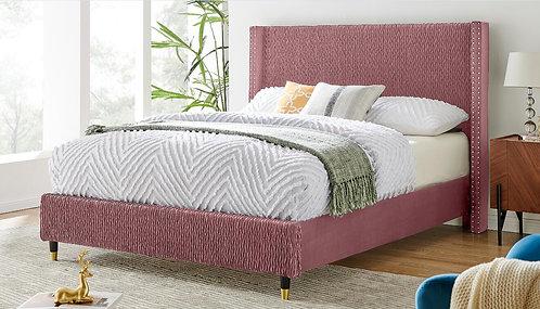 """""""SAMANTHA"""" PLATFORM QUEEN OR FULL BED IN ROSE OR BLUE"""