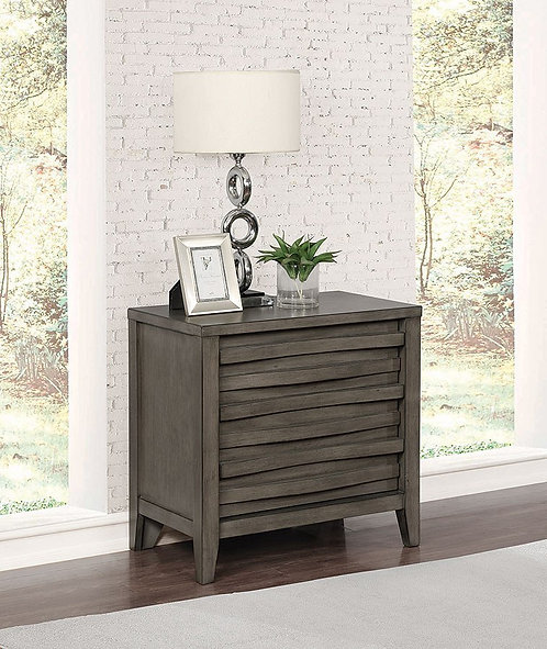 """""""OPAL"""" 2-DRAWER NIGHTSTAND  IN DARK TAUPE"""