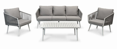 """""""MELISSA"""" 4PCS PATIO SET IN WHITE AND GREY"""