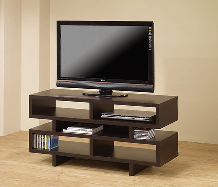 """""""DALI"""" TV CONSOLE IN CAPPUCCINO FINISH."""