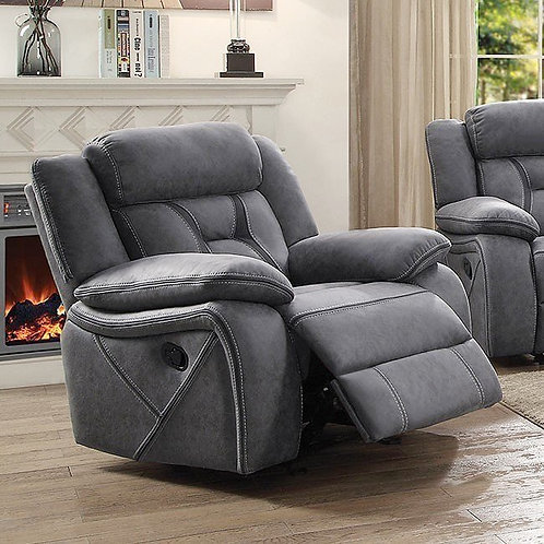 """""""HOUSTON"""" RECLINER CHAIR IN GREY FABRIC"""