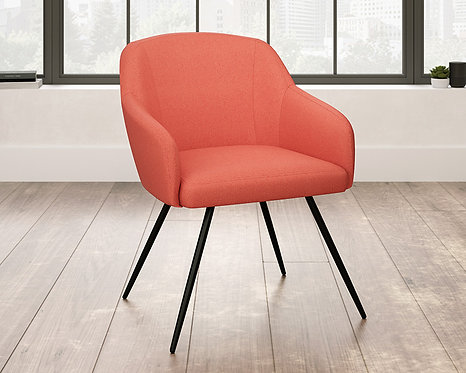 HARVEY PARK ACCENT CHAIR IN BLUE OR ORANGE FABRIC