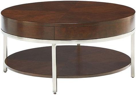 """MIRA"" COFFEE TABLE  IN MERLOT FINISH"