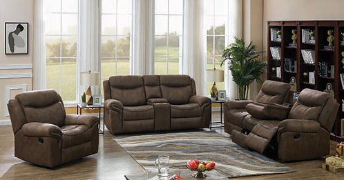 """""""SAWYER"""" 2-PCS RECLINER SET IN BROWN FABRIC"""