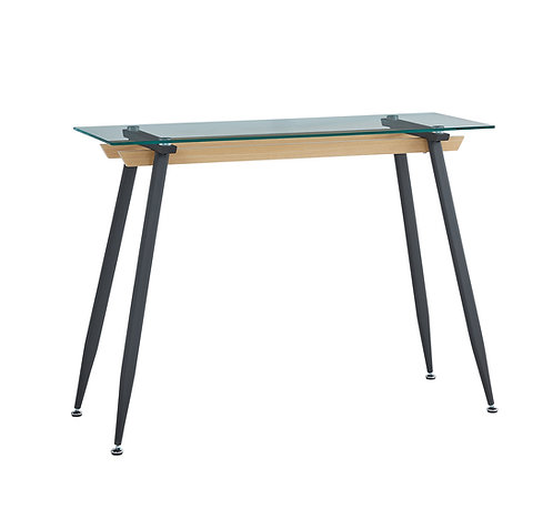 """""""JENNA"""" CONSOLE TABLE IN BLACK LEGS AND WOOD DESIGN"""