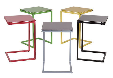 """JULIAN"" U-SHAPE SNACK TABLE IN VARIOUS COLORS"