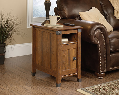 CARSON® FORGE SIDE TABLE IN CHERRY FINISH