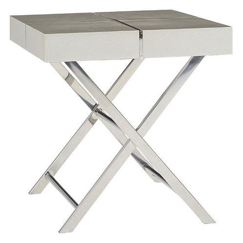"""""""AVA"""" END TABLE IN SILVER OR BROWN"""