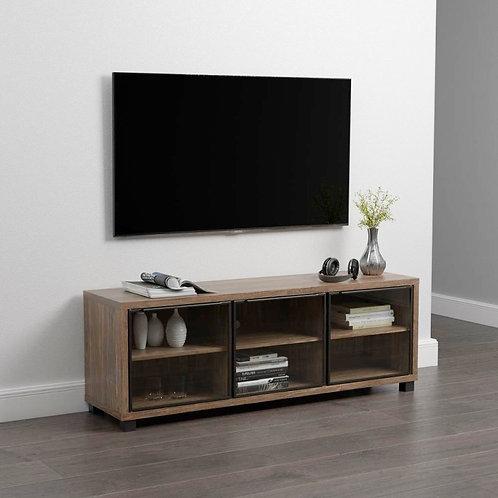 """ARGEN"" TV CONSOLE IN AGED WALNUT FINISH"