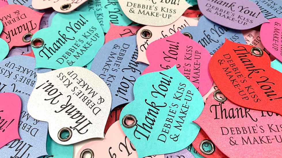 Lip Shaped Tags, Thank You Lip Tags