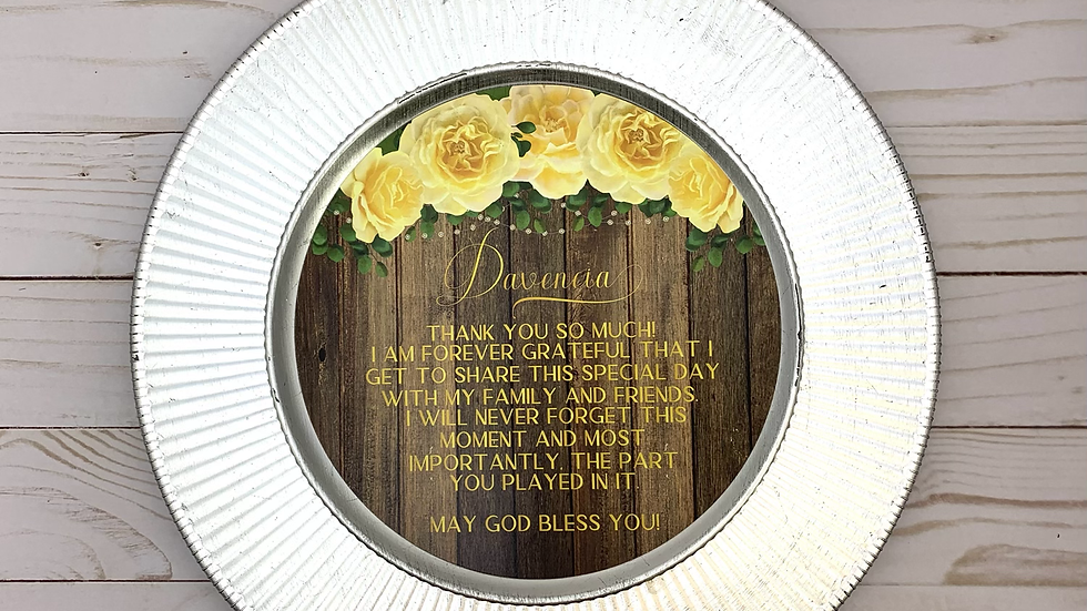 Rustic Yellow Rose Round Cards