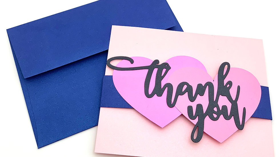 Thank You Stationery Cards - Two Hearts Are Better Than One!