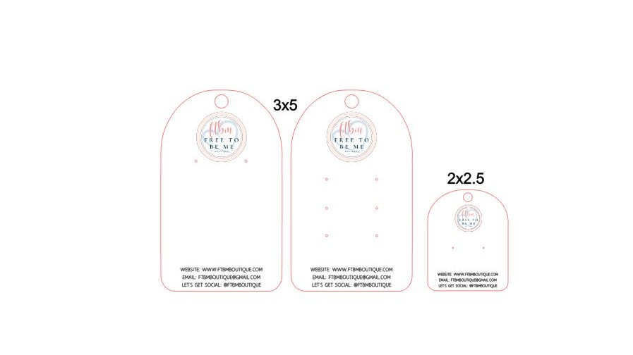 Earring Cards, Arched Jewelry Tags, Jewelry Product Cards