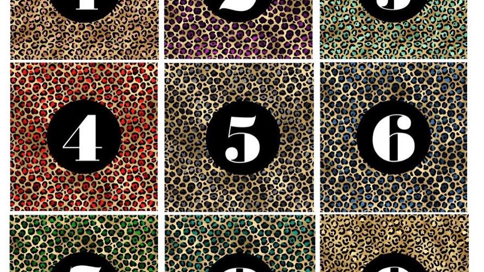 Leopard Print Candy Bar Wrappers - Set of 24 • Choose your print!