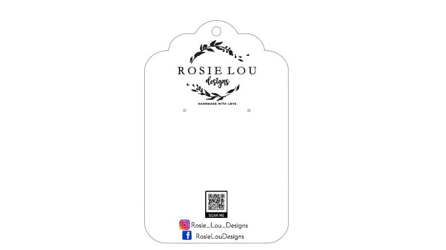 Jewelry Cards for Rosie Lou Designs