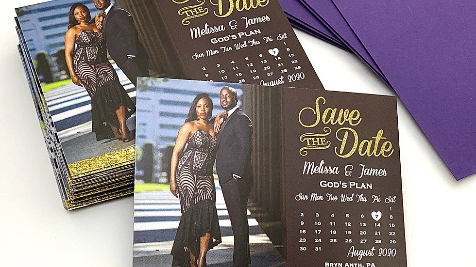Mr. and Mrs. Save The Date Magnets