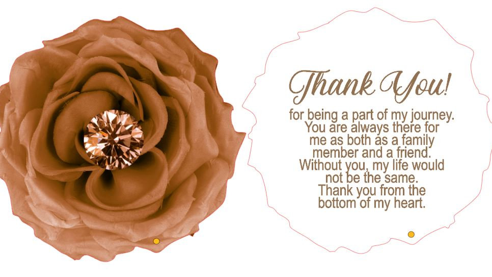Private Listing for Sabine - 6 Brown Flower Thank you cards