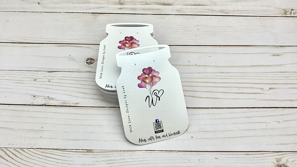 Mason Jar Shaped Earring Cards, Jewelry Tags, Jewelry Product Cards