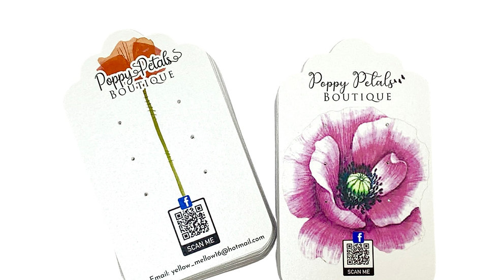 Earring Cards, Jewelry Tags, Jewelry Product Cards