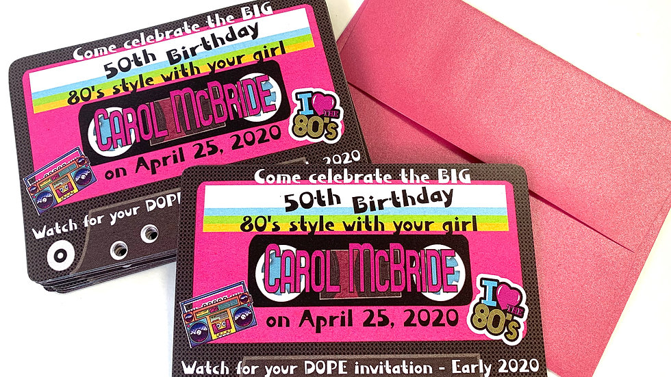 I ♥ the 80's Save The Date Magnets