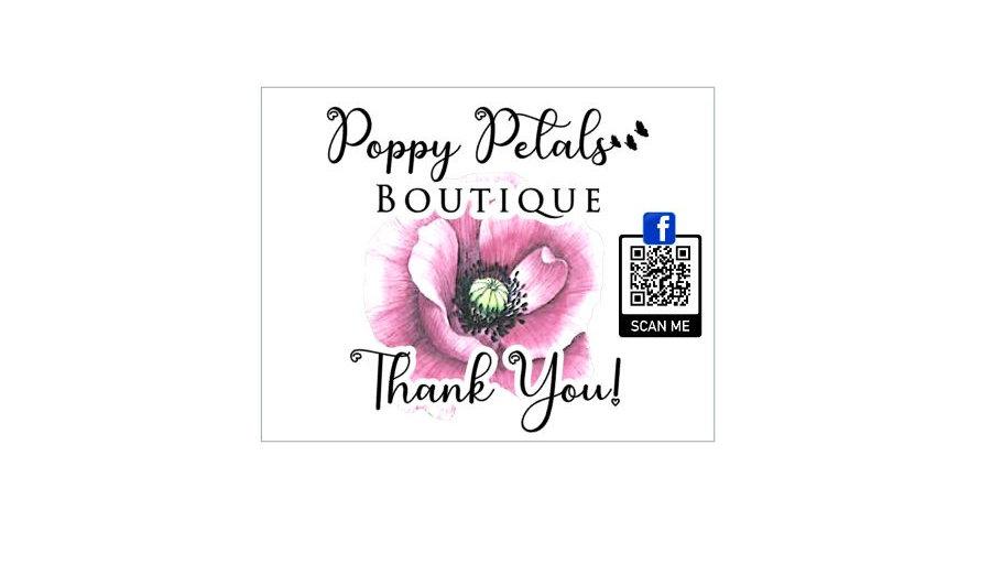 Thank You Cards - Poppy Petals Boutique