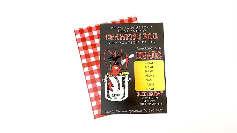 Graduation Crawfish Party Invites