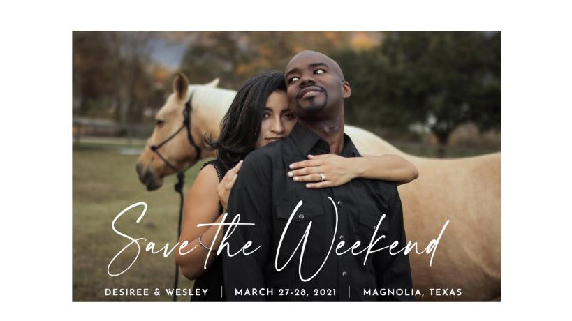 Private Listing for Des and Wes - Save The Weekend Tri-Fold Cards