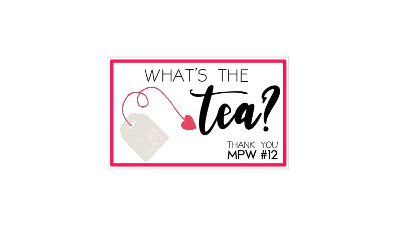 "What's the tea? 4""x3""  - 25 cards"
