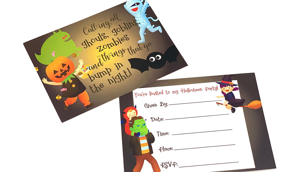 Halloween Fun! Fill In Invitations