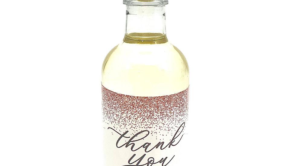 "Customized ""Blush Glitter"" Mini Wine Bottle Labels (8 ct)"