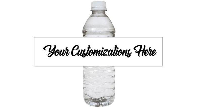 Water Bottle Labels, Customized Water Bottle Labels