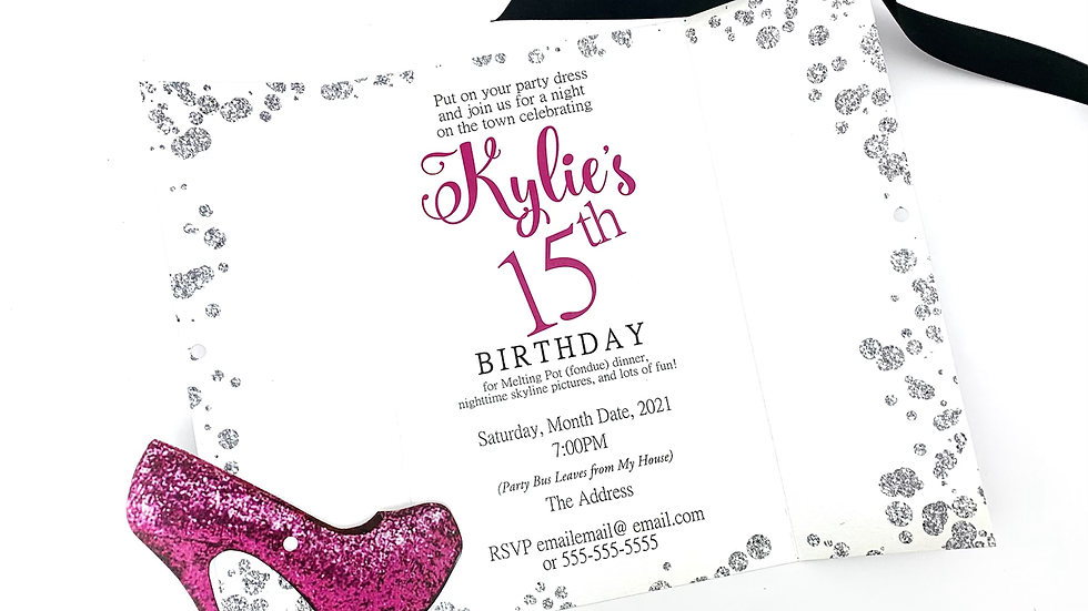 High Heel Party Invitations, Skyline Party Invitations