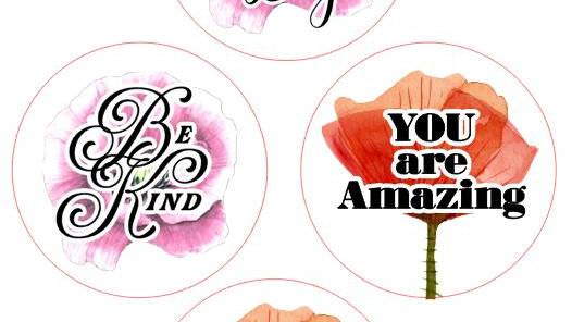 """Private Listing for Poppy Petals - 5 Sheets of 1.5"""" Waterproof Stickers"""