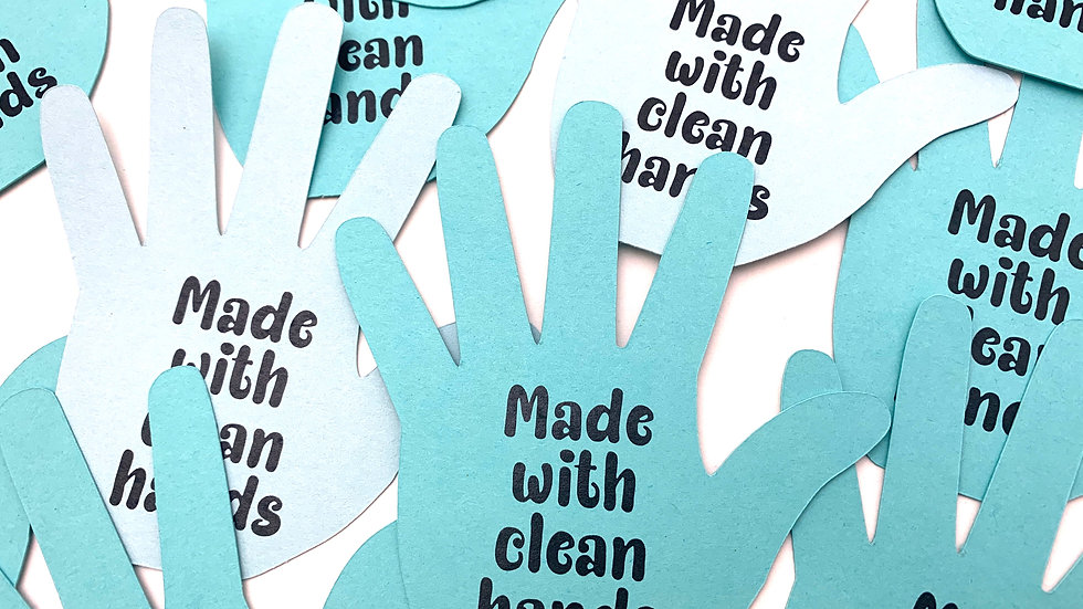 Made With Clean Hands Die Cuts