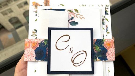 Boho Rustic Wood Arch Canopy Wedding Invitation Suites