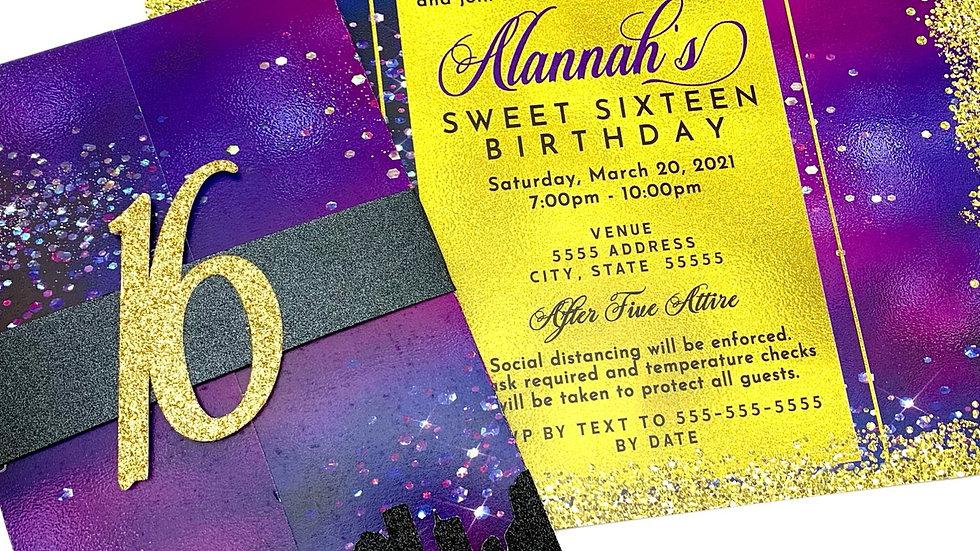 Sweet Sixteen Birthday Invitations, Sweet Sixteen Party