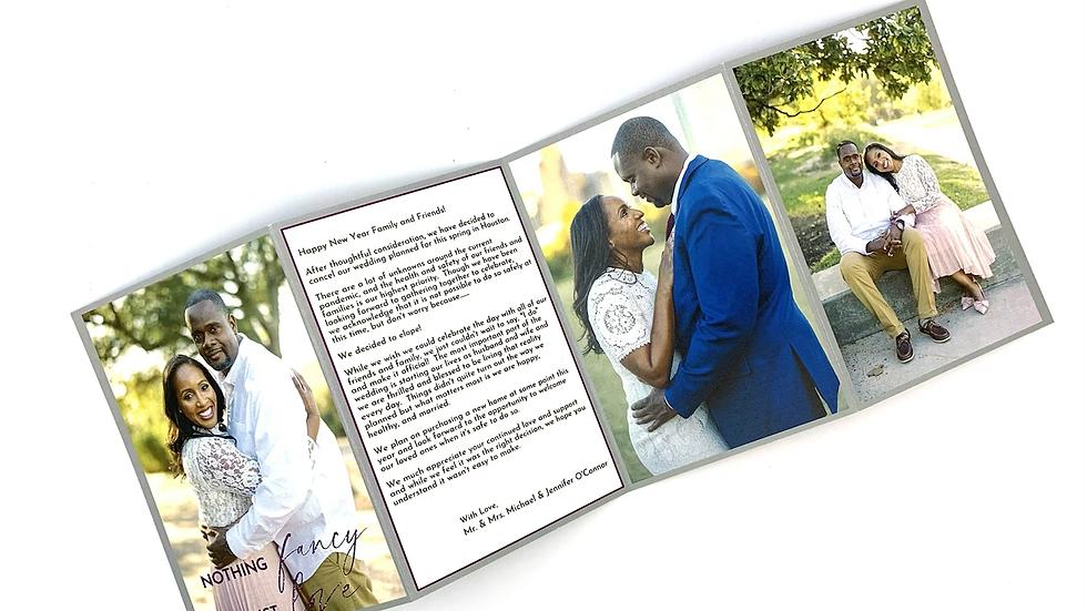Tri Fold Wedding Invitation, Tri Fold Look Book