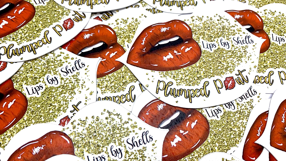 CoLip Shape Business Cards, Cosmotology Cards, Lip Cards
