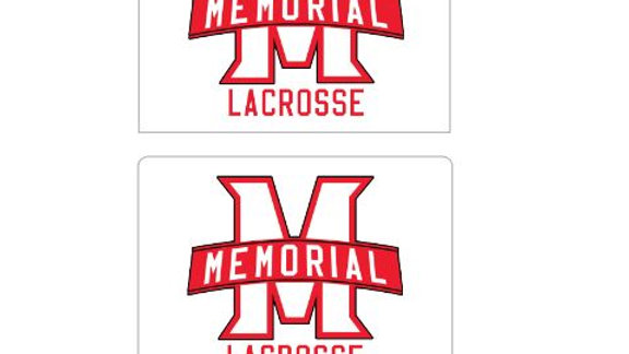 "Private Listing - 50 Memorial Lacrosse 4""x3"" Stickers"