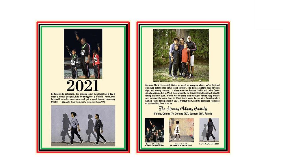 Private Listing for The Stevens Family - 70 New Year's Cards