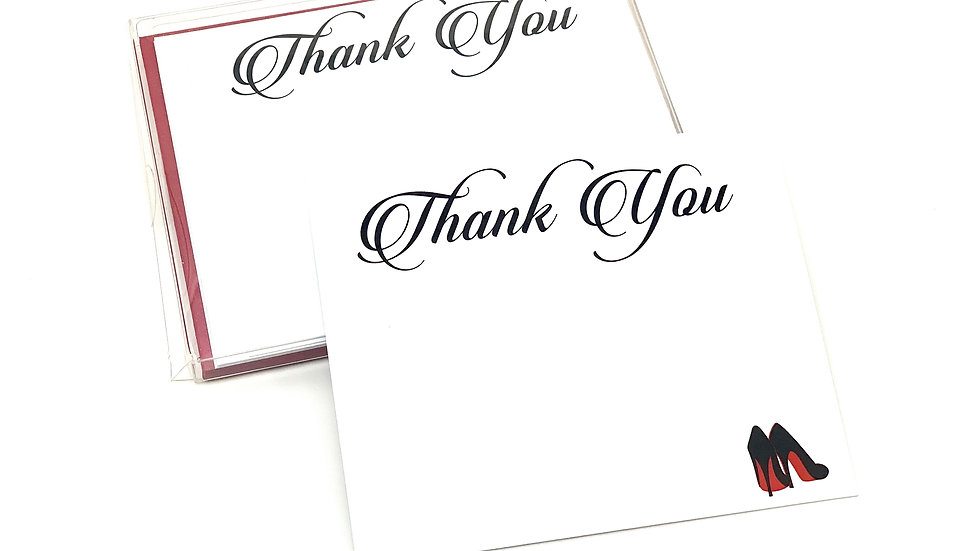 Red Bottom High Heel Thank You Cards