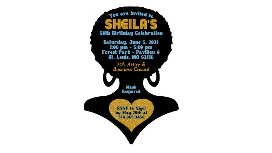 Private Listing for Nigel - 40 Afro Shaped Invitations