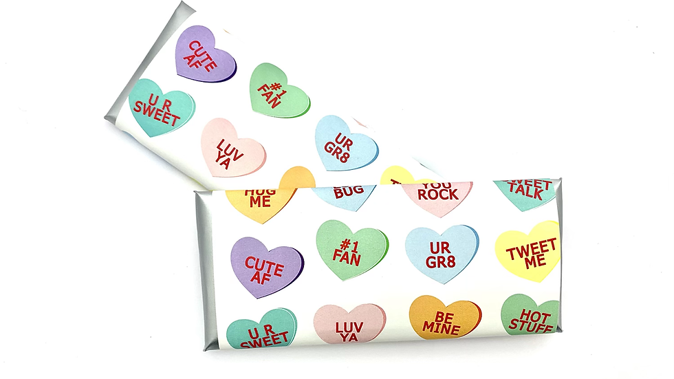 Conversation Hearts Hershey's Candy Bar Wrappers