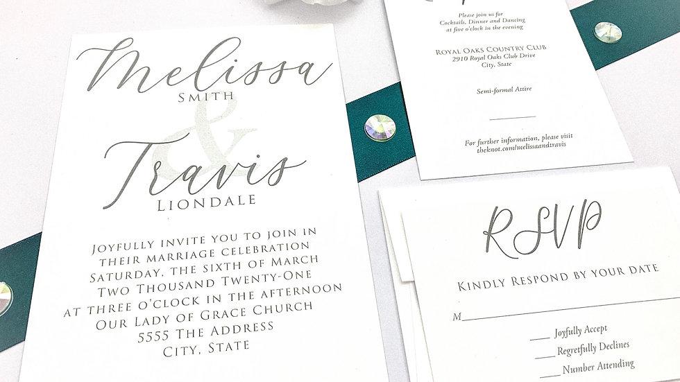 Wedding Invitation Suites - The Adore Suite